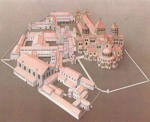 Diagrama del monasterio de Cluny